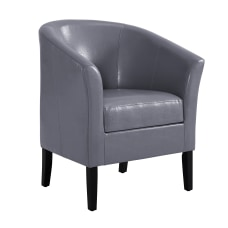 Linon Kate Club Chair Dark Gray