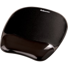 Fellowes Crystals Gel Mousepad Wrist Support