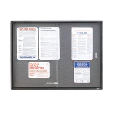 Quartet Enclosed Non Magnetic Bulletin Board