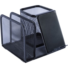 Lorell Mesh Desktop Organizer 51 Height
