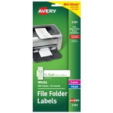 Avery Mini Sheets Permanent InkjetLaser Filing