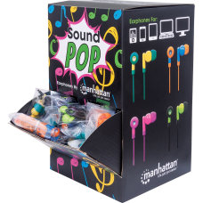 Manhattan SoundPOP Earphone Countertop DisplayDispenser Stereo
