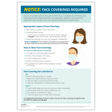ComplyRight Face Coverings Required Notice Poster