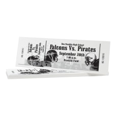 Custom 1 Color Perforated Tickets EventRaffle