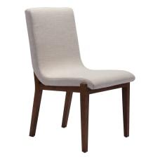Zuo Modern Hamilton Chairs Beige Set
