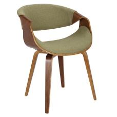LumiSource Curvo Chair WalnutGreen