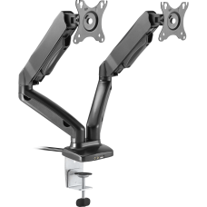 Lorell Dual Arm Desk Mount Black
