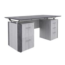 Forward Furniture Allure Double Pedestal Desk
