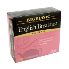 Bigelow Tea Bags English Breakfast Carton