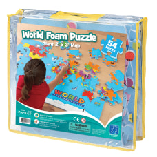 Educational Insights World Map Foam Puzzle
