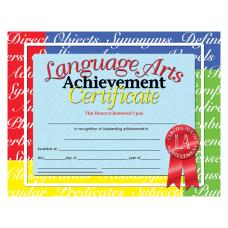 Hayes Language Arts Achievement Certificates 8