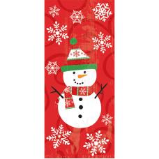 Amscan Christmas Snowman Cellophane Party Bags