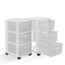 Inval MQ 3 Drawer Rolling Storage