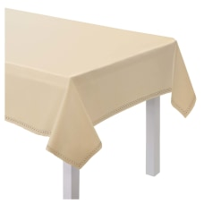 Amscan Hem Stitch Fabric Table Cover