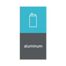 simplehuman Magnetic Trash Label Aluminum 4