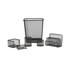 Mind Reader 6 Piece Mesh Desk