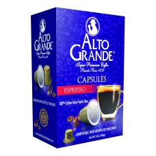Alto Grande Espresso Single Serve Coffee