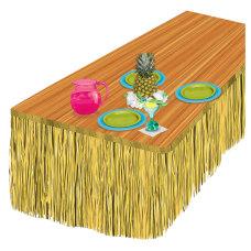 Amscan Summer Luau Natural Grass Table