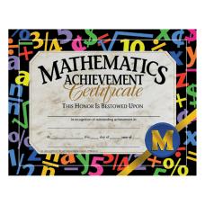 Hayes Mathematics Achievement Certificates 8 12