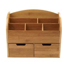 Mind Reader 6 Compartment Bamboo Desk