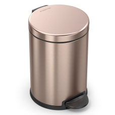 simplehuman Round Stainless Steel Step Trash