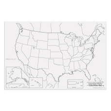 Pacon Learning Walls United States Map