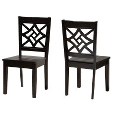 Baxton Studio Nicolette Dining Chairs Dark