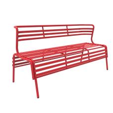 Safco CoGo IndoorOutdoor Bench With Back