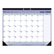 Blueline Academic 13 Month Desk Calendar