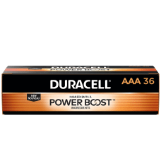 Duracell Coppertop Alkaline AAA Batteries Box
