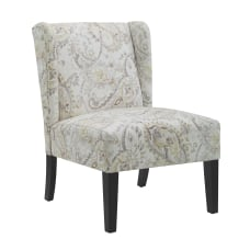 Linon Loleta Wing Back Chair PaisleyBlack