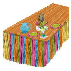 Amscan Summer Luau Grass Table Skirt