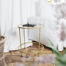 Flash Furniture Round Glass End Table