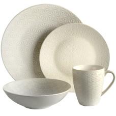 Elama Terrace Texture 4 Piece Dinnerware