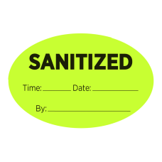 COSCO Pre Printed Labels Sanitized 2