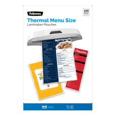 Fellowes Thermal Laminating Pouches Menu Size