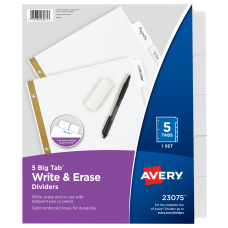 Avery Big Tab Write On 20percent