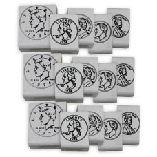 Center Enterprises Coin Heads Rubber Stamp