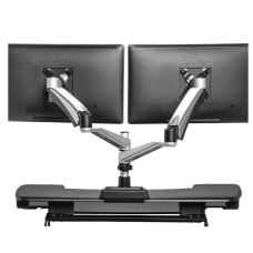 Vari Dual Monitor Arm 360 Gray