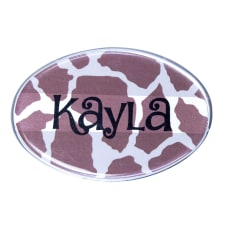 The Mighty Badge Animal Print Name