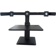 Lorell Deluxe 3 Monitor Desk Riser