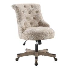 Linon Dallas Fabric Mid Back Chair
