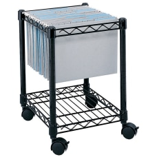 Safco Rolling Cart LetterLegal Black