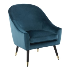 LumiSource Matisse Accent Chair TealBlackGold