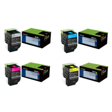 Lexmark BlackCyanMagentaYellow Toner Cartridges Pack of