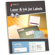 MACO White LaserInk Jet Address Labels
