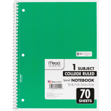 Mead One subject Spiral Notebook 70