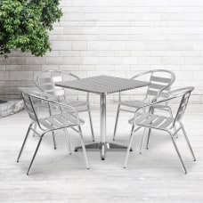 Flash Furniture Square Aluminum Indoor Outdoor