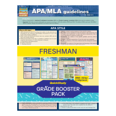 QuickStudy Grade Booster Pack Freshman