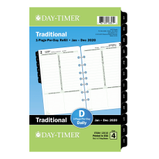 Day Timer Classic Daily Refill Desk